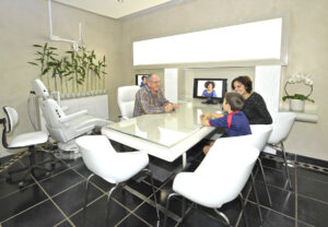 One of our specially equipped consultation rooms for private discussions and information sessions with Dr Pretorius.